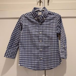 Boys Crewcuts (J. Crew) Gingham Check Oxford Shirt